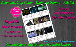 Star Wars Digital or Printed Valentines Day Cards 2.5x3.5 Sheet #8