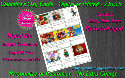 Alvin and the Chipmunks Digital or Printed Valentines Day Cards 2.5x3.5 Sheet 2