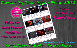 Spiderman Digital or Printed Valentines Day Cards 2.5x3.5 Sheet #2
