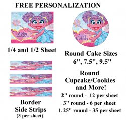 Abby Cadabby Edible Image Frosting Sheet #1 (different sizes)