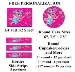 Abby Cadabby Edible Image Frosting Sheet #2 (different sizes)
