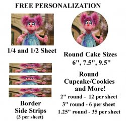 Abby Cadabby Edible Image Frosting Sheet #14 (different sizes)