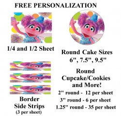 Abby Cadabby Edible Image Frosting Sheet #15 (all sizes)