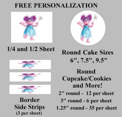 Abby Cadabby Edible Image Frosting Sheet #22 (different sizes)