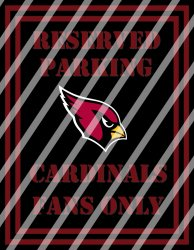 Arizona Cardinals Parking Wall Decor Sign #1 (instant download,print,framed)