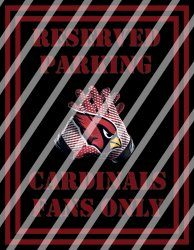 Arizona Cardinals Parking Wall Decor Sign #2 (instant download,print,framed)