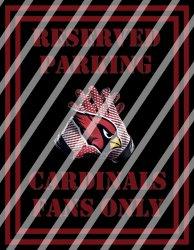 Arizona Cardinals Parking Wall Decor Sign #2 (digital or shipped)