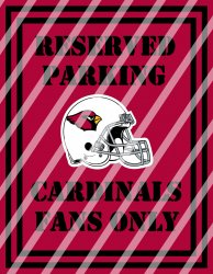 Arizona Cardinals Parking Wall Decor Sign #3 (instant download,print,framed)