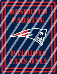 New England Patriots Parking Wall Decor Sign #1 (digital or shipped)