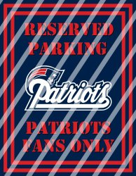 New England Patriots Parking Wall Decor Sign #2 (digital or shipped)