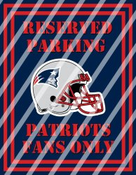 New England Patriots Parking Wall Decor Sign #5 (digital or shipped)