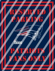 New England Patriots Parking Wall Decor Sign #7 (digital or shipped)