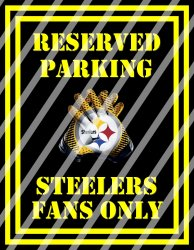 Pittsburgh Steelers Parking Wall Decor Sign #2 (digital or shipped)