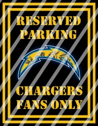 San Diego Chargers Parking Wall Decor Sign #5 (digital or shipped)