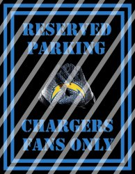 San Diego Chargers Parking Wall Decor Sign #6 (digital or shipped)