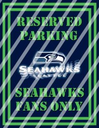 Seattle Seahawks Parking Wall Decor Sign #1 (digital or shipped)