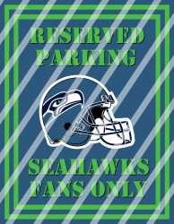 Seattle Seahawks Parking Wall Decor Sign #5 (digital or shipped)