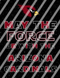 Arizona Cardinals Star Wars Force Wall Decor Sign instant download,print,framed