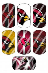 Arizona Cardinals Standard Dog Tag Images Sheet #3 (instant download or pre cut)