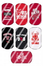 Arizona Cardinals Standard Dog Tag Images Sheet #10 (instant download or precut)