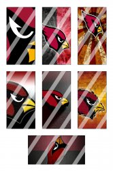 Arizona Cardinals Standard Domino Images Sheet #1 (instant download or pre cut)