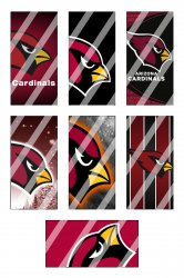 Arizona Cardinals Standard Domino Images Sheet #2 (instant download or pre cut)