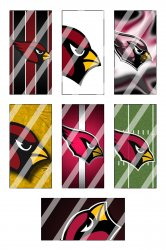 Arizona Cardinals Standard Domino Images Sheet #3 (instant download or pre cut)