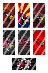 Arizona Cardinals Standard Domino Images Sheet #4 (instant download or pre cut)