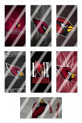 Arizona Cardinals Standard Domino Images Sheet #5 (instant download or pre cut)