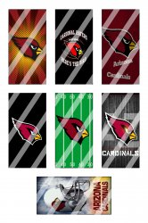 Arizona Cardinals Standard Domino Images Sheet #6 (instant download or pre cut)