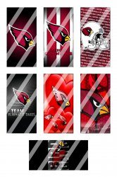 Arizona Cardinals Standard Domino Images Sheet #7 (instant download or pre cut)