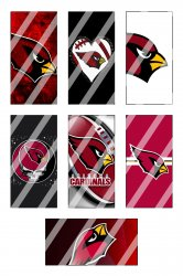 Arizona Cardinals Standard Domino Images Sheet #8 (instant download or pre cut)