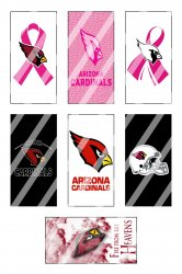 Arizona Cardinals Standard Domino Images Sheet #9 (instant download or pre cut)