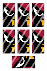 Arizona Cardinals Standard Domino Images Sheet #A1 (instant download or pre cut)