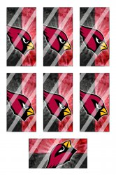 Arizona Cardinals Standard Domino Images Sheet #A2 (instant download or pre cut)