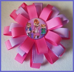 Alvin and the Chipmunks 3 Layer Hair Bow #B13 (choose image and ribbon colors)