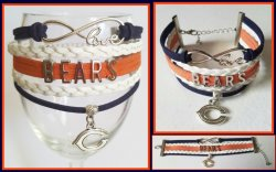 Chicago Bears Infinity Wrap Bracelet #1