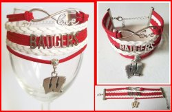 Wisconsin Badgers Infinity Wrap Bracelet