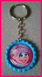 Abby Cadabby Bottle Cap Keychain #A2 (you choose image and bottle cap color)