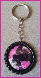 4 Wheeler Bottle Cap Keychain #A7 (you choose image and bottle cap color)