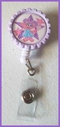 Abby Cadabby Retractable Bottle Cap Badge Reel #A3 (choose image, clip, color)
