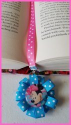 Minnie Mouse Ribbon Bookmark #B8 (choose image and ribbon colors)