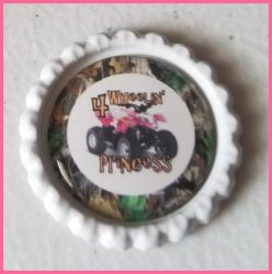 4 Wheeler Quad Bottle Cap Magnet #B1a (choose image and bottle cap color)