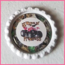 4 Wheeler Quad Bottle Cap Magnet #B1a (choose image and bottle cap color)