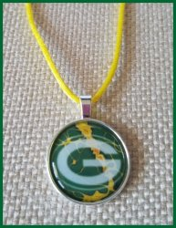 Green Bay Packers Bezel Pendant Cord Necklace #A7 (choose image, cord color)