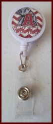 Alabama Crimson Tide Retractable Badge Reel #A4 (you choose image and clip)