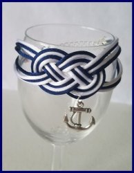 Anchor Double Infinity Knot Bracelet