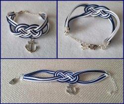 '.Anchor Infinity Knot Bracelet.'