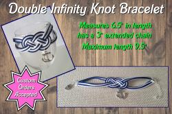 Anchor Double Infinity Knot Bracelet
