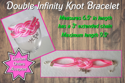 Breast Cancer Awareness Hope Double Infinity Knot Bracelet